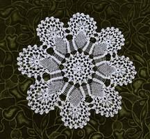 Horgolt csipke terítő kézimunka lakástextil dekoráció kis méretű terítő asztal közép 30 cm