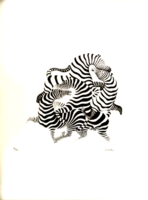 Victor Vasarely: Zebrák -eredetigazolással!