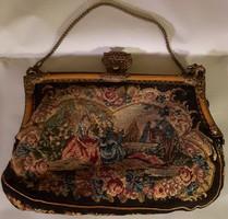 Régi gobelin díszítésű színházi táska