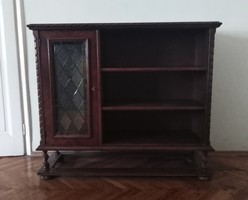 Super price! Colonial stained glass bar cabinet