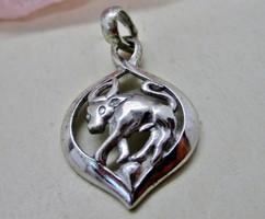 Különleges bika horoszkóp  ezüst medál