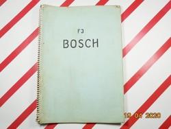 Bosch F3 diesel dízel motor - német nyelvű szakkönyv, 1960-as évek - Robert Bosch GMBH Stuttgart