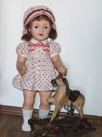 Régi, antik mintára készült kisméretű hintaló, guruló ló- pici méretű- a baba csak dekoráció!