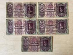 5 db 100 pengő - díjmentes postázással