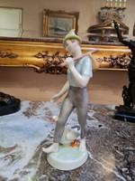 Hollóházi ludas matyi - kézzel festett porcelán