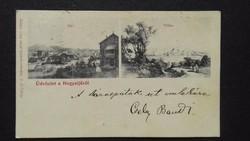 Régi ritka képeslap (Üdvözlet a Hegyaljáról)