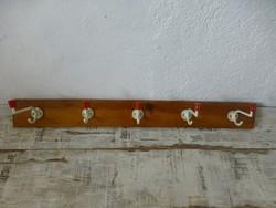 Retro,vintage fa,fém,piros gombos fogas