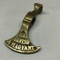 Fokos bronz Ne Bántsd A Magyart  8x5 cm