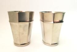 2 pcs marked etain sigg zinn frauenfeld german tin cup