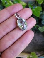 Zöld ametiszt ezüst medál