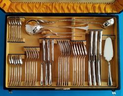 Ezüst evőeszköz készlet 6 személyes  angol fazon 48 darabos