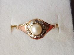 Antik arany gyűrű /gyémánt