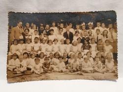 """"""" Rajaz """" Gyermekek csoportkép fotó képeslap"""