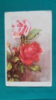 Régi üdvözlőlap,szép rózsás képeslap