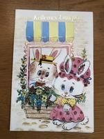 Kellemes Ünnepet - aranyos kinyithatós kis Nyuszis képeslap