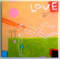 WAHORN ANDRÁS - LOVE A TENGERPARTON /100x100cm