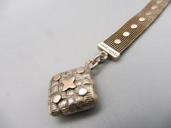Chateline ezüst akasztóval óralánc
