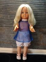 Kb.40 éves gyönyörű arcú játékbaba régiség 50 cm magas