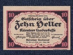 Ausztria Karintia 10 heller szükségpénz 1920 (id7411)
