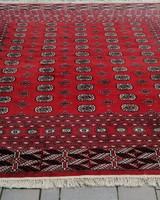 Afgán Bokhara Tekke kézi csomózású szőnyeg.250x250cm. Alkudható! Szép!
