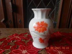 Zsolnay szegfű mintás váza