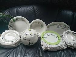 Zsolnay rippl-rónai 22-piece new tableware