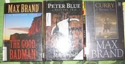15 db klasszikus cowboy-western regény angol nyelven Max Brand stb.
