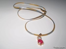 JELZETT OLASZ kéttónusú arany goldfilled  nyaklánc