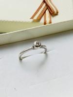 Klasszikus button ezüstgyűrű