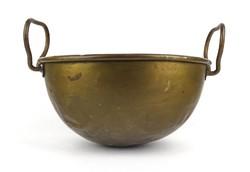 1E149 Antik réz cukrászati eszköz habüst