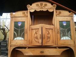 Felújitandó! Szecessziós népi márványlapos tálalószekrény konyhaszekrény tálaló paraszt bútor falusi