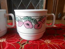 Zsolnay porcelán, virág mintás bögre