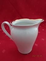Kahla német porcelán tejkiöntő, arany szegélyes, magassága 8,5 cm.