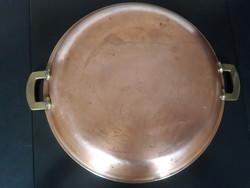 Jelölt svájci vörösréz serpenyő, 30 cm-es