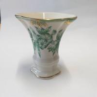 Herendi Zöld  Aponyi Mini Váza 7 cm.