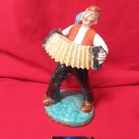 Ditmar Urbach Harmonikás Kerámia Figura. 22 cm