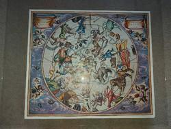 Harmonia Macrocosmica, Csillagképek, 1979, plakát, kb.50x60!
