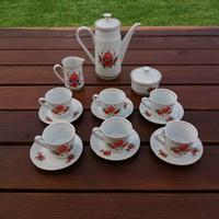 Kahla német porcelán teás, kávés készlet