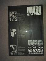 Mikro Galéria, 1977, plakát, kb.40x60!