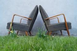 Mid Century retro pöttyös karfás fotelek 1960 körülről