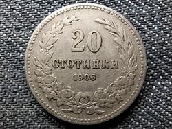 Bulgária I. Ferdinánd (1887-1918) 20 Stotinki 1906 Körmöcbánya! (id48522)