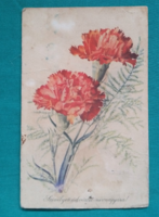 Régi üdvözlőlap,virágos képeslap,Offset,1962