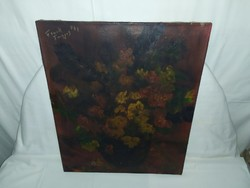 1,-Ft Frank Frigyes virág csendélet festmény