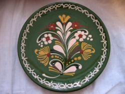 HMV vásárhelyi zöld jelzett tál, tányér