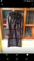 Padlizsán színű szőrmés irha bunda bőr kabát  38-as újszerű