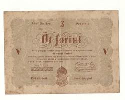 1848 as 5 forint Kossuth bankó papírpénz bankjegy 48 49 es szabadságharc pénze sor  v ü v