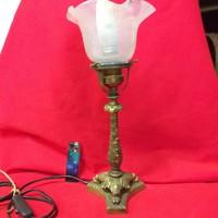Réz,Fodros Lámpa búra,Asztali Lámpa.22 cm