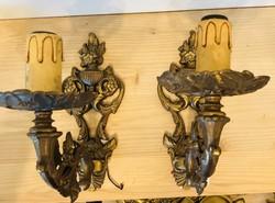 Bronz falikar lámpa párban