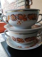 Zsolnay leveses csészék