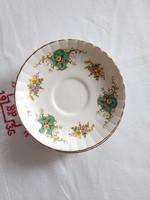 3 db angol Royal Stafford 'True Love' fehér, virágmintás porcelán tányérok/csészealjak